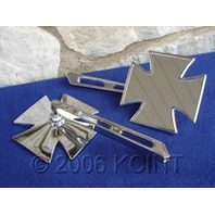 MALTESE CROSS MIRROR SET FOR HARLEY & CHOPPERS