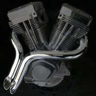 """2"""" CHROME CUSTOM LAF  EXHAUST Y PIPES FOR HARLEY SOFTAIL DYNA SPORTSTER & CUSTOMS"""