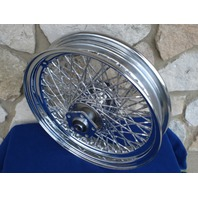 """16"""" TWISTED SPOKE CHROME FRONT  WHEEL FOR HARLEY HERITAGE FATBOY 1984-99"""