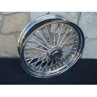 16x3.5 CHROME FAT SPOKE REAR WHEEL HARLEY FLT TOURING ROAD KING GLIDE 2008 ONLY