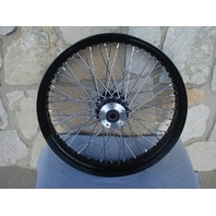 """21X3.5"""" 60 SPOKE 08-UP (ABS) BLACK FRONT WHEEL HARLEY ROAD KING FLHX  TOURING"""