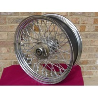 """16"""" X 5.5"""" 60 SPOKE WIDE WIRE WHEEL FOR HARLEY AND CHOPPERS 1986-99"""