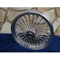 """18X3.5"""" 52 FAT SPOKE FRONT WHEEL FOR HARLEY TOURING 08-UP"""