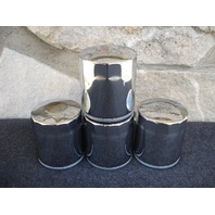 LOT OF 4 HIGH QUALITY CHROME 10 MICRON OIL FILTERS FOR HARLEY TWIN CAM 63798-99