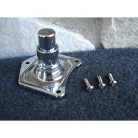CHROME  SOLENOID COVER WITH STARTER BUTTON  FOR 1991-2019 HARLEY SOLENOID  COVER