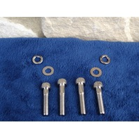 CHROME ALLEN  MIRROR BOLTS FOR HARLEY & CUSTOM CHOPPERS