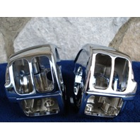 CHROME SWITCH HOUSINGS FOR MOST HARLEY SOFTAIL XL 2007-10 REPL OE # 70222-96B