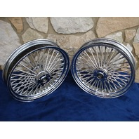"""16X3.5"""" DNA 52 SPOKE FRONT AND REAR WHEEL 2000-06 SET FOR HARLEY HERITAGE DELUXE"""