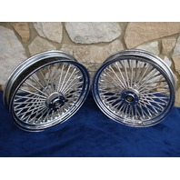 """18X3.5"""" DNA MAMMOTH 52 SPOKE WHEELS FOR HARLEY TOURING"""