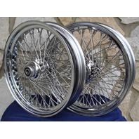 "18X3.5"" 80 SPOKE WHEEL SET 2000-06 FOR HARLEY HERITAGE FATBOY"