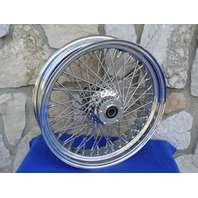"""18"""" X 4.25"""" 60 SPOKE DNA FRONT WHEEL 2000-06 FOR HARLEY HERITAGE FAT BOY DELUXE"""