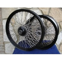 POWDER COATED 80 SPOKE WHEELS PARTS FOR HARLEY CHOPPERS