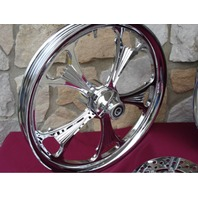 "CALIBUR 21X3.25"" CUSTOM BILLET FRONT WHEEL FOR HARLEY TOURING & BAGGERS 2000-UP"