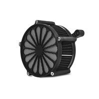 BLACK SPOKE AIR CLEANER & FILTER KIT 1991-2015 SPORTSTER 883 1200 XL HARLEY