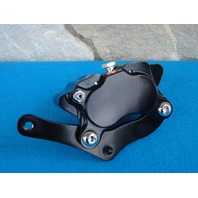 BLACK BRAKE CALIPER FOR HARLEY DNA MIDWEST FXST & CHOPPERS GLIDE FRONT END 4 PISTON BRAKE