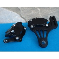 DNA BLACK GLIDE FRONT & REAR BRAKE SET FOR HARLEY & CHOPPERS