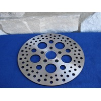"""FOR HARLEY 11 1/2"""" FRONT CIRCULAR DRILLED SATIN STAINLESS DRILLED BRAKE ROTOR 84 & UP"""