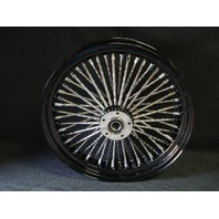 "16X3.5"" BLACK DNA MAMMOTH 52 DIAMOND SPOKE REAR FOR HARLEY 2002-07 TOURING"