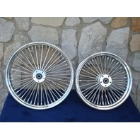 21X3 & 16X5.5 DNA 52 SPOKE FAT DADDY  WHEELS 4 HARLEY SOFTAIL & TOURING