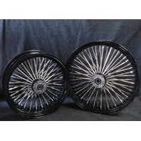 "21X3.5"" & 16X5.5"" DNA MAMMOTH 52 SPOKE BLACK POWDER COATED WHEEL SET FOR HARLEY"