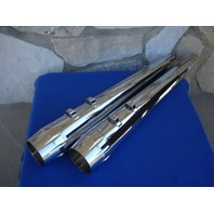 """4"""" CHROME TIP SLIP-ON MUFFLERS HARLEY ELECTRA ULTRA GLIDE TOURING 95-16 EXHAUST"""