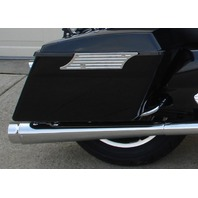 """DNA  4"""" CHROME STYLE TAPERED SLIP-ONS MUFFLERS HARLEY TOURING 95-16"""