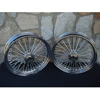 "16X3.5"" DNA FATTY MAMMOTH 40 SPOKE FRONT & REAR WHEEL 00-06 SET HARLEY HERITAGE"