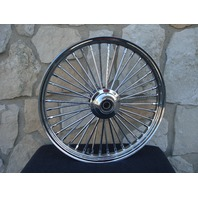 """21X2.15"""" DNA MAMMOTH FAT SPOKE FRONT WHEEL FOR HARLEY  DYNA NARROW GLIDE 04-07"""