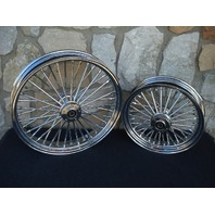 "21X3.5"" & 16X3.5"" DNA FATTY 40 MAMMOTH WHEEL SET 2000-07 HARLEY TOURING BAGGER"