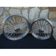 "21X3.5"" & 18X3.5"" DNA FATTY 40 MAMMOTH WHEEL SET 2000-07 HARLEY TOURING BAGGER"
