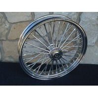 "23X3.5"" DNA 08-UP FAT 40 SPOKE MAMMOTH FRONT WHEEL HARLEY TOURING BAGGER"