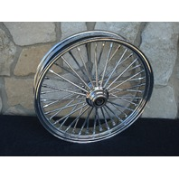 "23X3.5"" DNA 00-07 FAT 40 SPOKE MAMMOTH FRONT WHEEL HARLEY TOURING BAGGER"