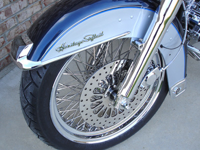 80 Spoke Chrome Wheel Set For Harley Chopper Dyna Softail