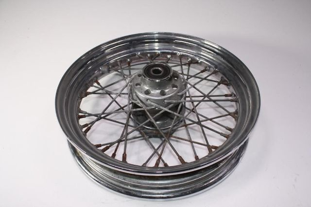 Used Harley Davidson Wheels >> Details About 02 Harley Davidson Flstc Heritage Classic Front Wheel Straight Rims