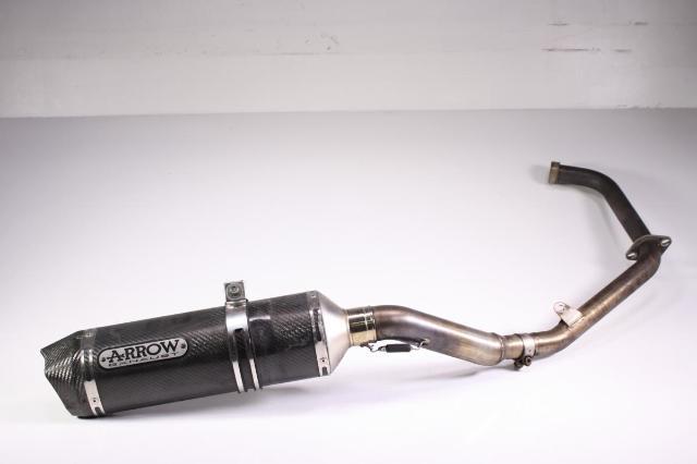 Details about 11 Honda CBR250R Full ARROW Exhaust Carbon Fiber Pipe Muffler  Can