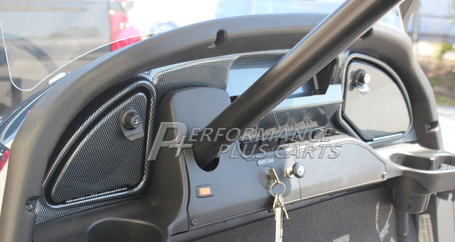 Details about Club Car Precedent Golf Cart Carbon Fiber Dash Kit for 2008 5  and Up