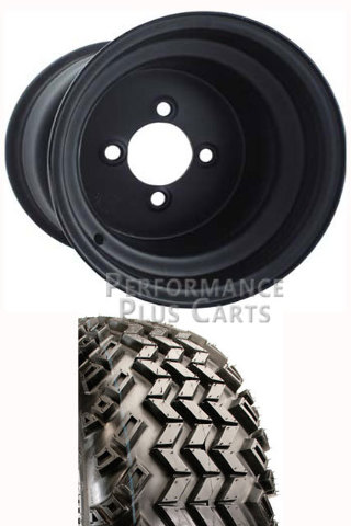 Club Car Precedent Golf Cart Lift Kit Tire And Steel Wheel Combo
