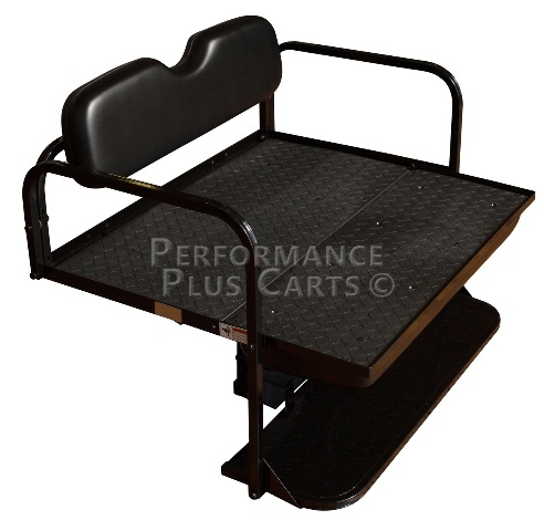 EZGO RXV Golf Cart Flip Folding Rear Back Seat Kit - Black Cushions Golf Cart Back Cushion on golf cart body, golf cart skirt, golf cart axle shaft, golf cart width, golf cart cushion covers, golf bag back cushion, golf cart seat, golf cart frame,