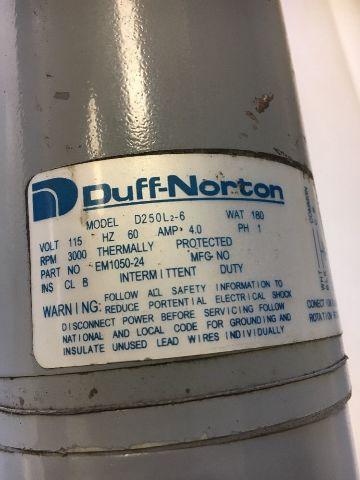Duff Norton D250l2 6 Actuator Tal05 1a10 8 Stroke 8 Capacity 500lb