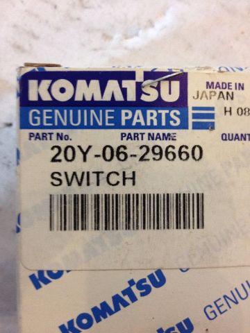 Details about New OEM Komatsu Genuine Parts Switch #20Y-06-29660 Warranty!  Fast Ship!