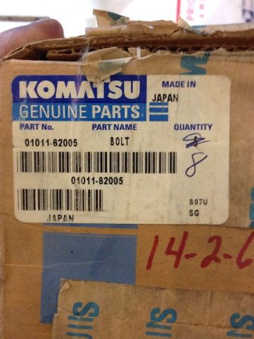 Details about New OEM Komatsu Genuine Parts Bolts Lot Of 8 01011-62005  Warranty! Fast Ship!