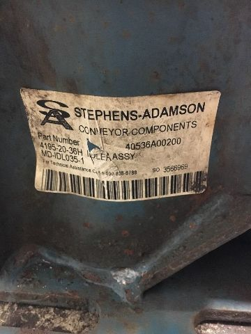 Details about Stephens-Adamson 4195-20-36H Idler Assembly 20 Degree X 36