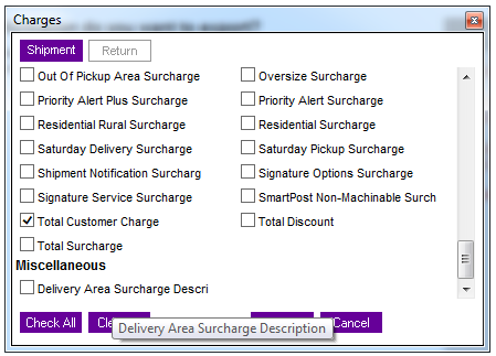 export information fedex integration shipment charges