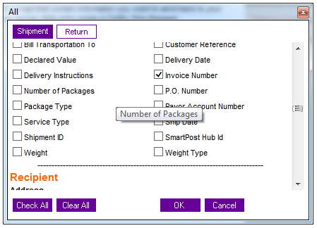 shipment invoice number fedex integration suredone