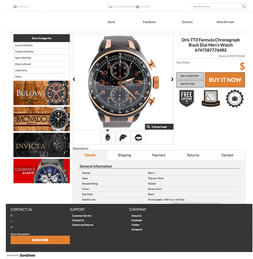 Ebay Custom Description Override Suredone