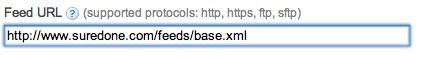 google shopping setup feed url