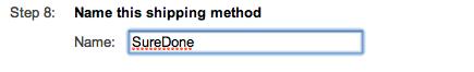 google shopping shipping method setup suredone