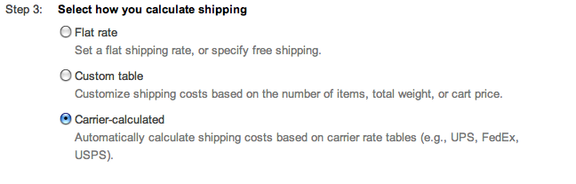 google shopping calculate shipping flat rate suredone
