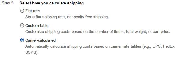 google shopping calculate shipping flat rate suredone