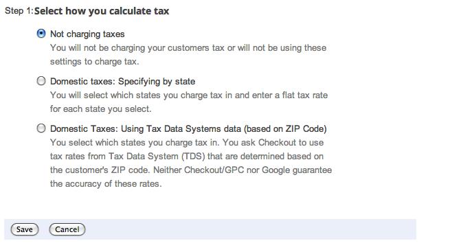 google shopping calculate tax suredone